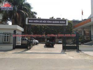 Lắp đặt biển tại bảo hiểm xã hội tỉnh Quảng Ninh