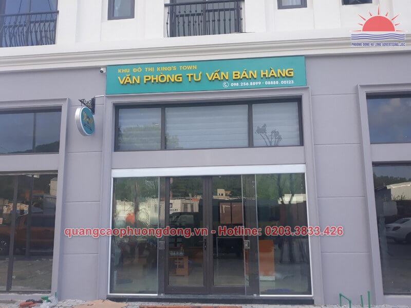 Lắp đặt biển hiệu văn phòng đại diện công ty Thành Lê