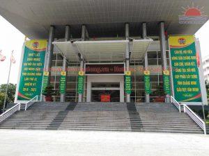 Phướn thả và banner sự kiện đại hội
