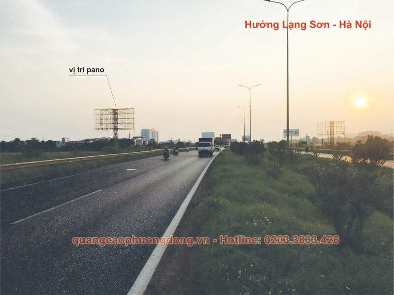 Địa điểm đặt pano cho thuê theo hướng Lạng Sơn - Hà Nội