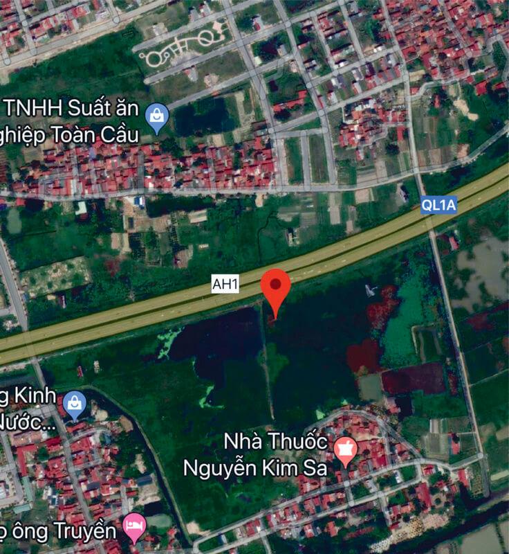 Ảnh vệ tinh sơ đồ vị trí đặt pano quảng cáo