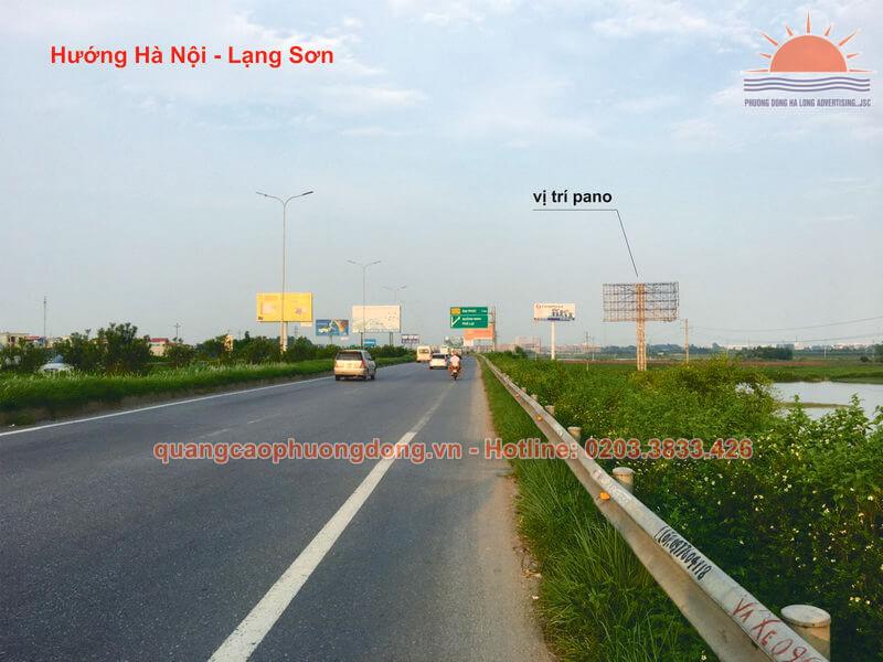 Vị trí đặt pano cho thuê tại KM 139+85 QL 1, Phường Đại Phúc, thành phố Bắc Ninh.