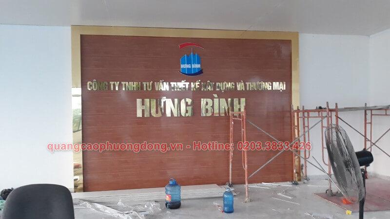 thiết kế và thi công backdrop công ty Hưng Bình