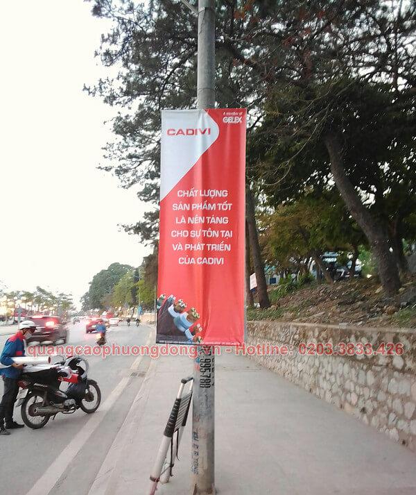 Treo banner tại khu vực Giếng Đáy