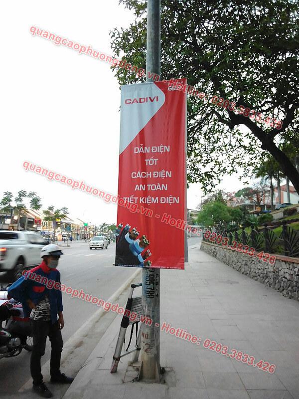 Treo banner Cadivi tại đường Bãi CHáy