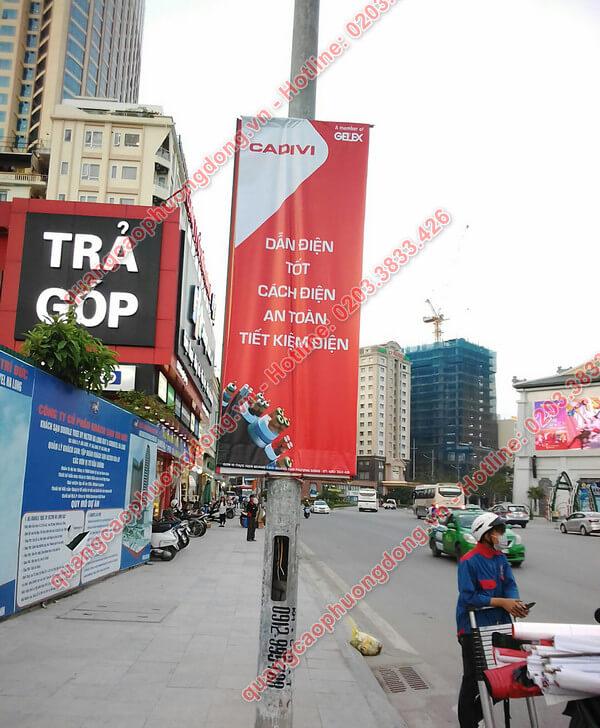 Treo banner Cadivi tại thành phố Hạ Long