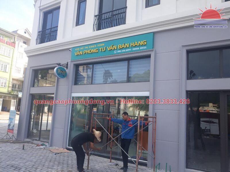 Thi công biển văn phòng đại diện bất động sản Thành Lê