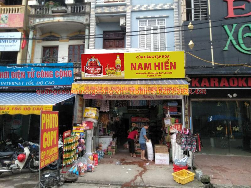 Làm biển thương hiệu Neptune Gold ở Bắc Ninh