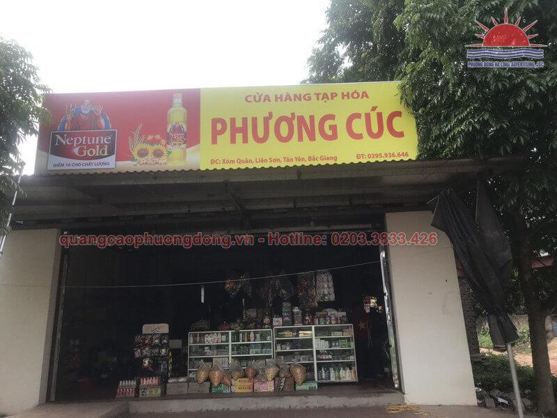 Lắp đặt biển hiệu cửa hàng Phương Cúc
