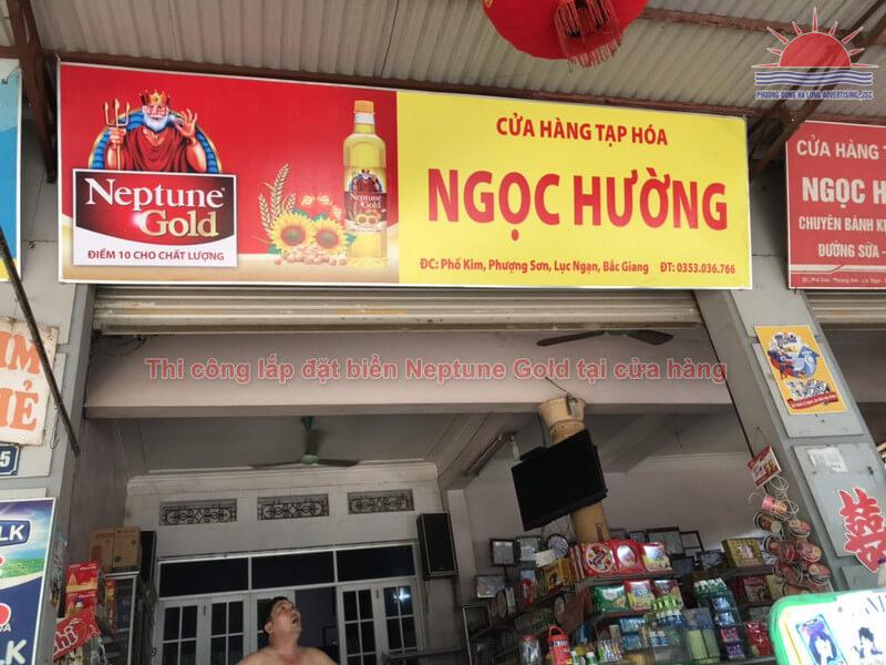 Thi công lắp đặt biển tại cửa hàng Ngọc Hường tại Lục Ngạn-Bắc Giang