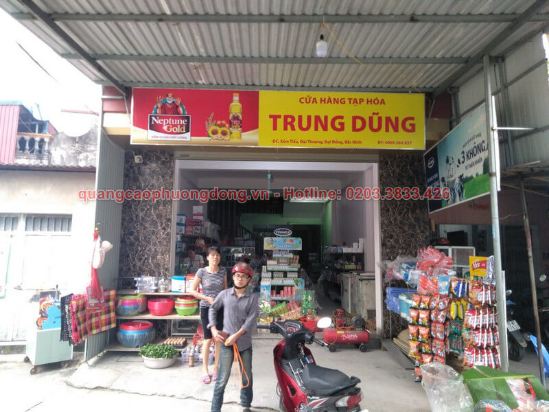 Thi công lắp đặt biển tại cửa hàng Trung Dũng-Bắc Ninh