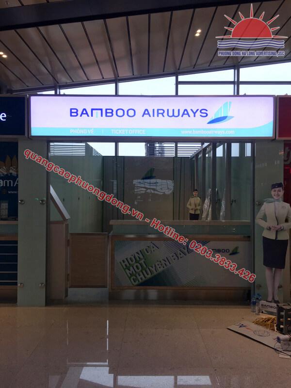 Thi công biển hộp đèn Bamboo Airways