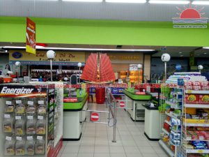 Mô hình thuyền buồm cánh đôi lắp đặt tại siêu thị Big C