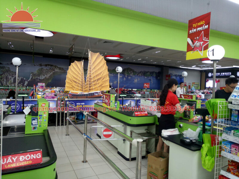 Mô hình lắp đặt cạnh quầy giao dịch trong siêu thị Big C