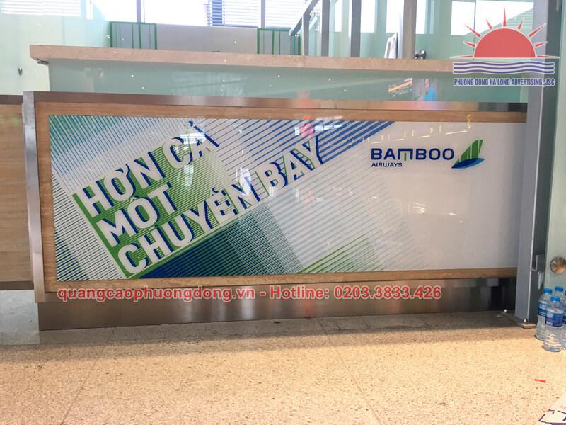 Thi công quầy lễ tân Bamboo Airways