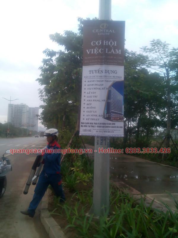 Một hình ảnh treo banner tại Quảng Ninh