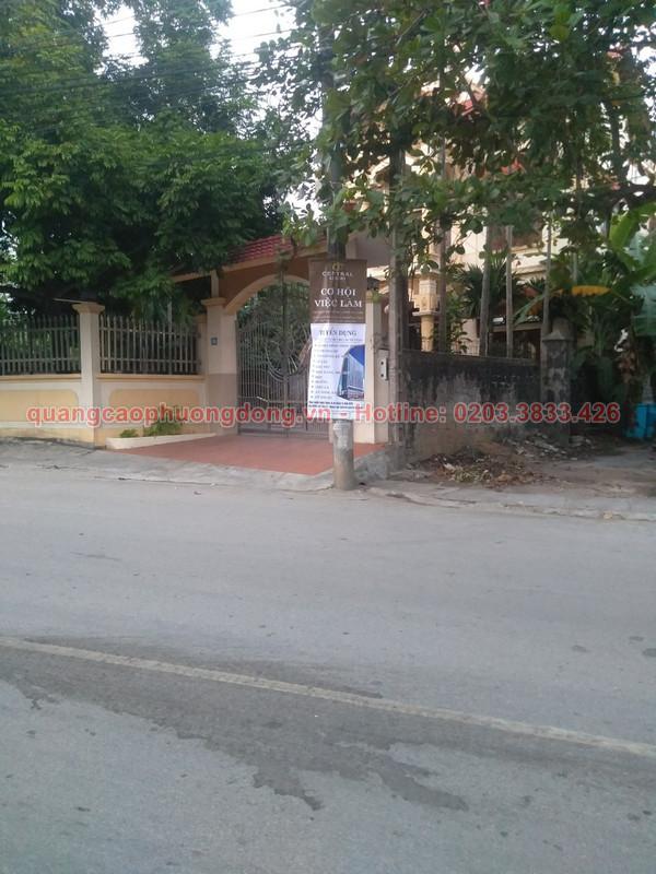 Treo banner tại khu vực Uông Bí