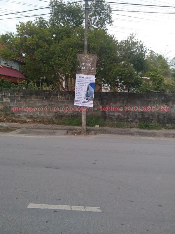 In và treo banner tại Uông Bí