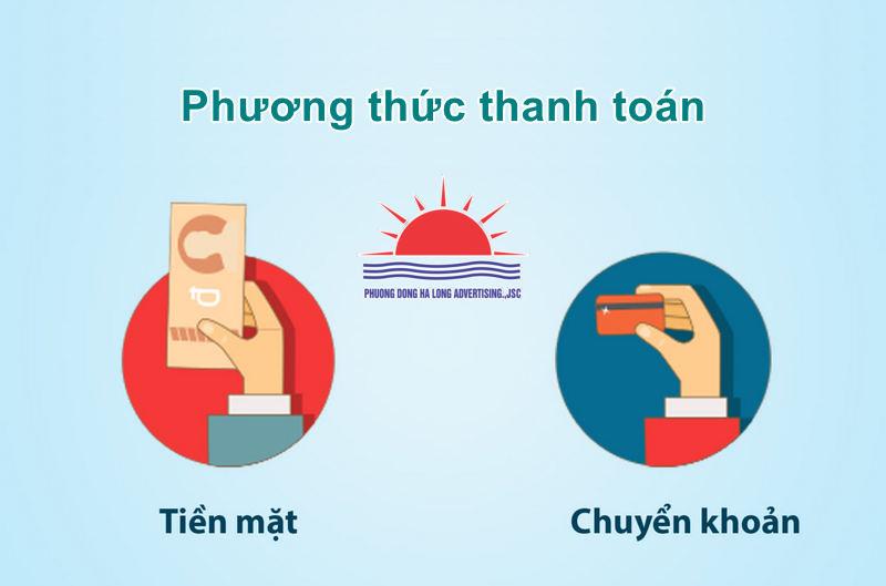 Phương thức thanh toán tại Quảng cáo Phương Đông