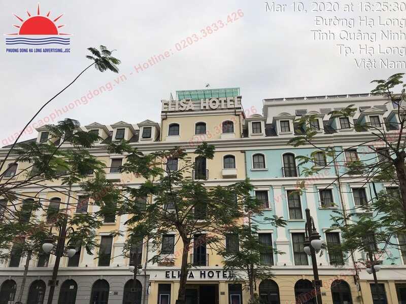 Thi công biển quảng cáo khách sạn Elisa Hotel