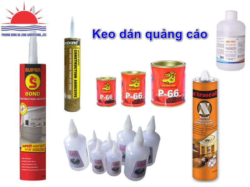 Tổng hợp các loại keo dán chuyên dụng dùng trong ngành quảng cáo