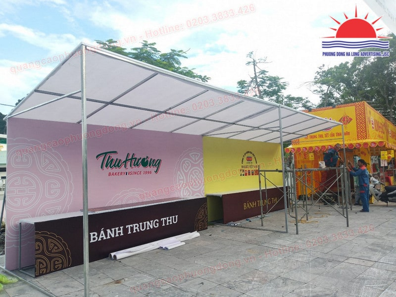 Thi công gian hàng bán bánh trung thu tại Hạ Long, Quảng Ninh