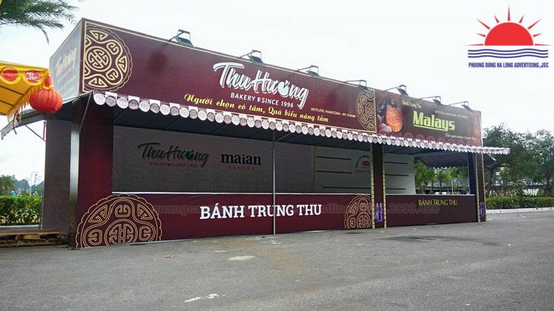 Thi công gian hàng bán bánh trung thu Thu Hương tại Hạ Long, Quảng Ninh