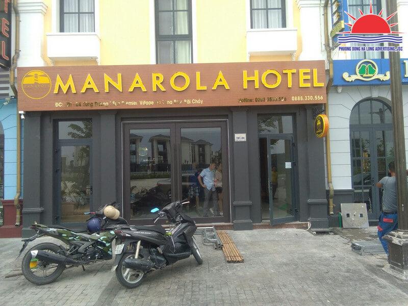làm biển quảng cáo khách sạn ở Hạ Long