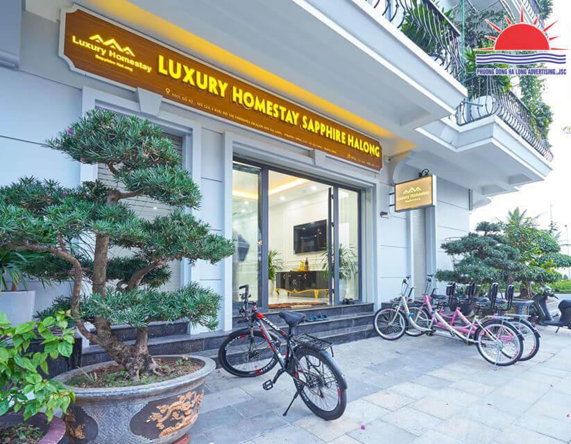 biển quảng cáo homestay đẹp ở Hạ Long