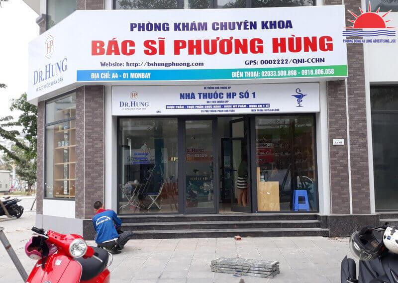 Thi công biển quảng cáo phòng khám bác sĩ Phương Hùng tại Hạ Long