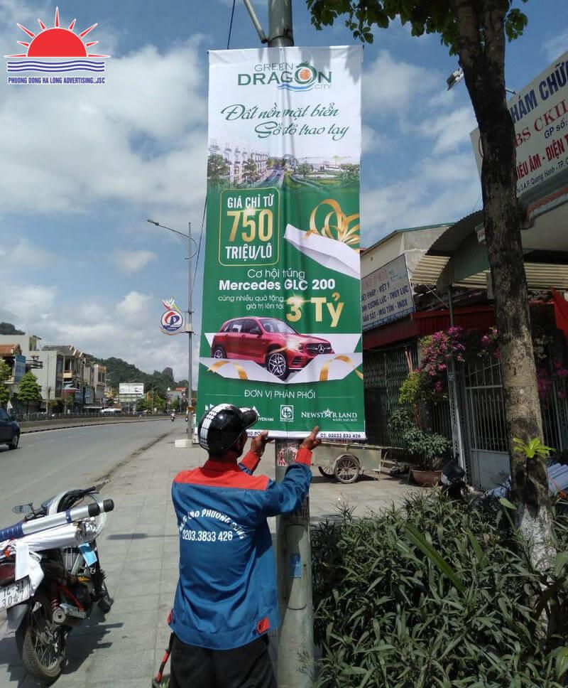 in treo băng rôn banner bất động sản tại Hạ Long, Quảng Ninh