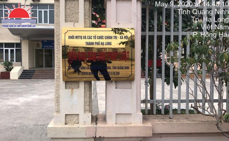 Làm biển quảng cáo công ty inox ăn mòn ở Hạ Long