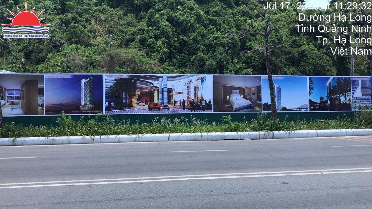 Pano hàng rào dự án ở Hạ Long