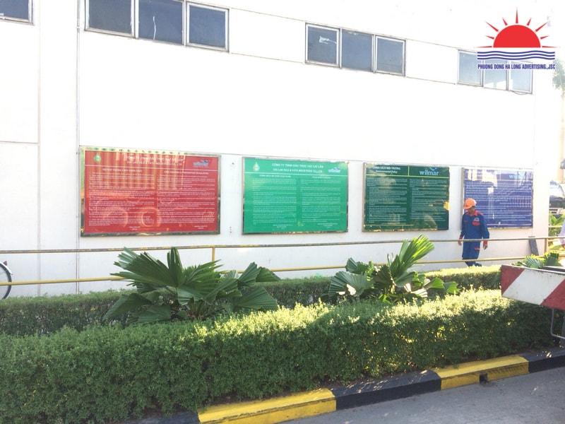 Biển quảng cáo trang trí bên ngoài khu công nghiệp