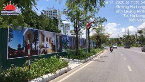 Thi công pano hàng rào dự án ở Hạ Long, Quảng Ninh