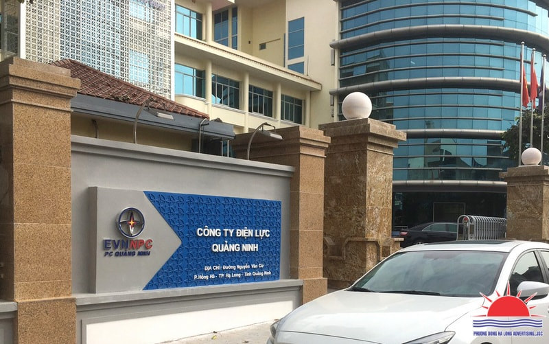 lắp đặt biển công ty điện lực Quảng Ninh