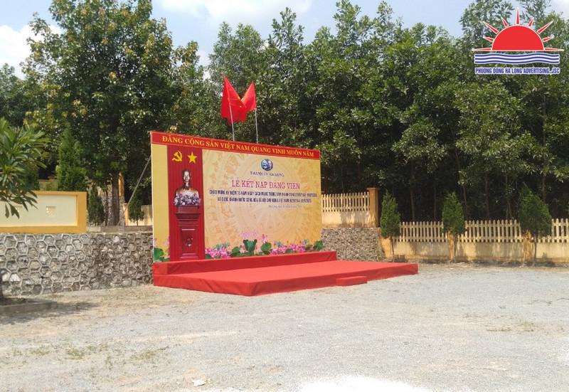 Cho thuê bục sự kiện tại Hạ Long