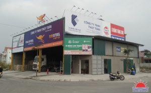 Làm biển quảng cáo cho đại lý xi măng Lam Thạch tại Quảng Ninh