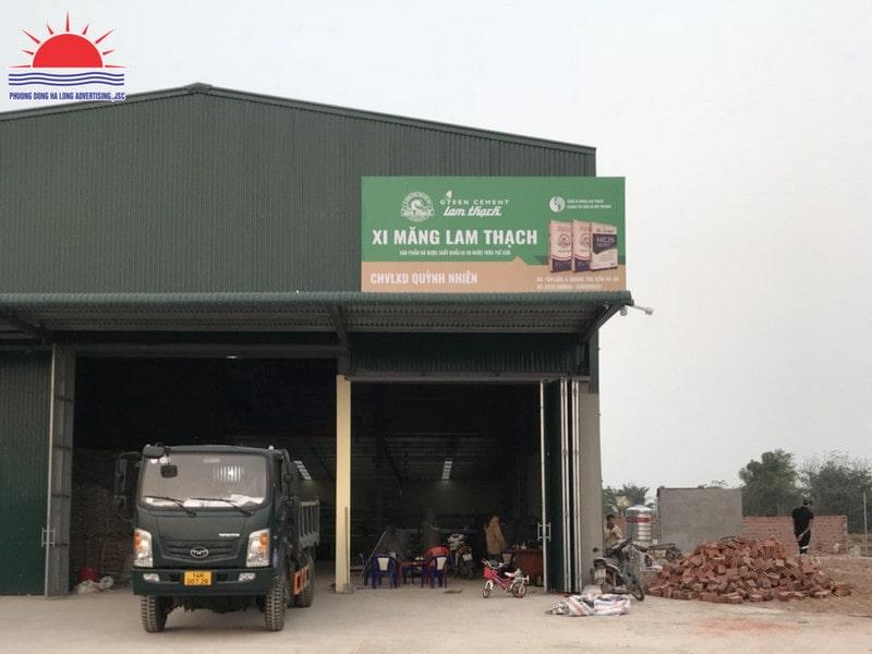 biển quảng cáo xi măng Lam Thạch