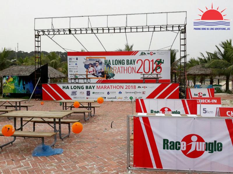 Thi công trang trí sự kiện marathon tại Hạ Long
