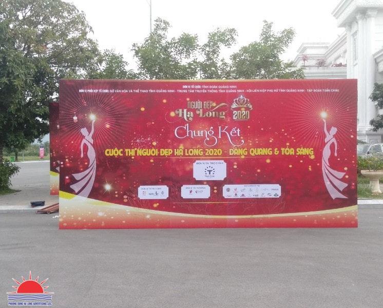 thiết kế và in ấn phông sự kiện tại Quảng Ninh