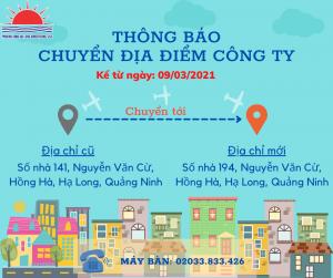 Thông báo chuyển văn phòng công ty Quảng cáo Phương Đông
