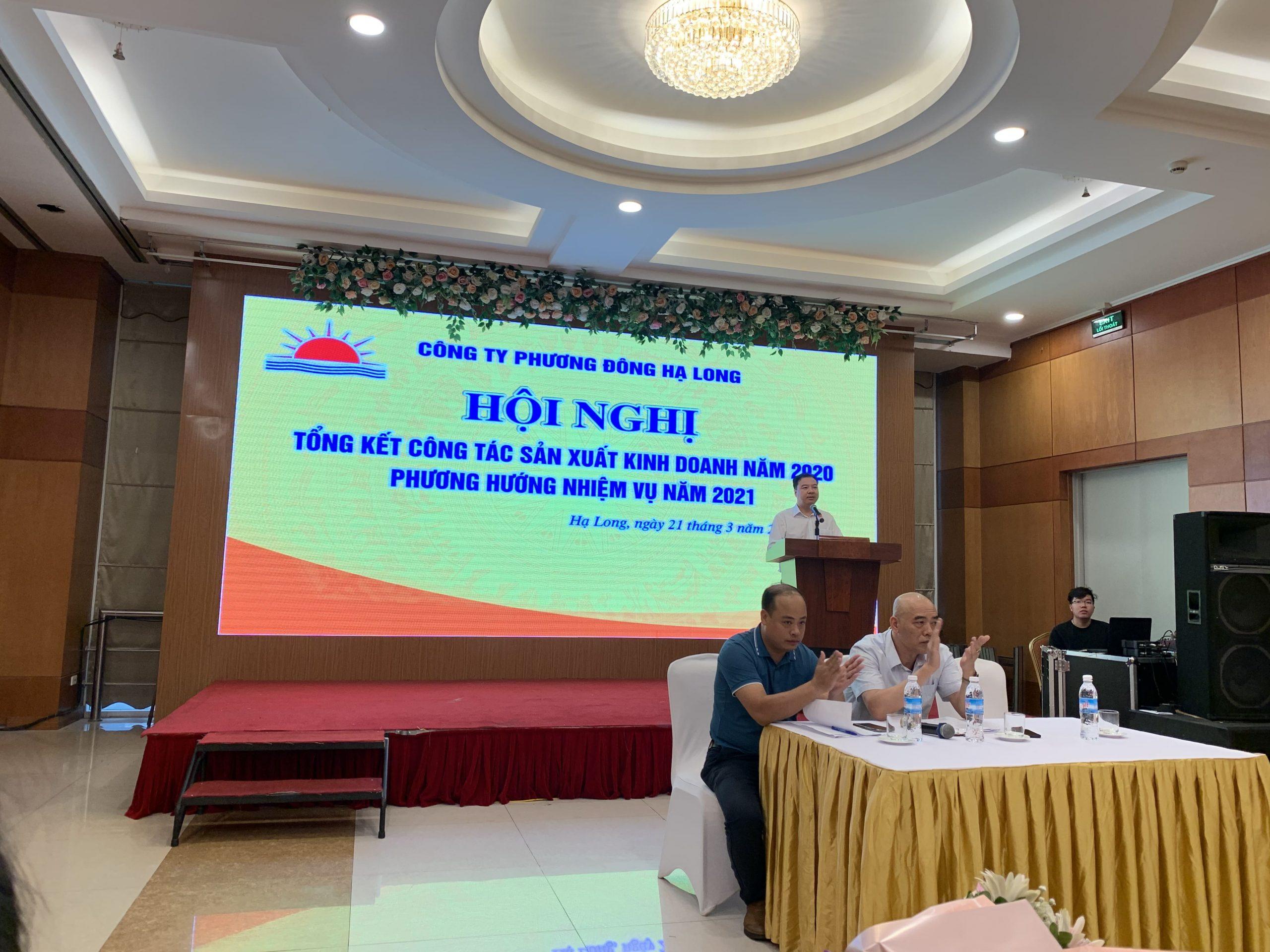 Anh Nguyễn Ngọc Tú - Giám đốc công ty phát biểu khai mạc hội nghị