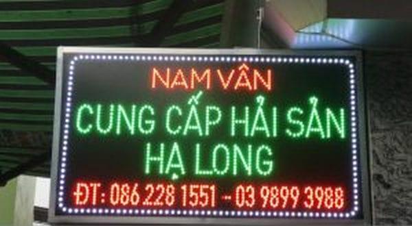 Mẫu biển quảng cáo hải sản đèn led, bảng điện tử…