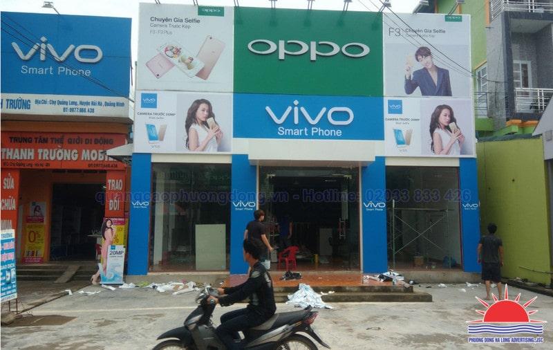 Làm biển quảng cáo cửa hàng điện thoại tại Hạ Long Quảng Ninh