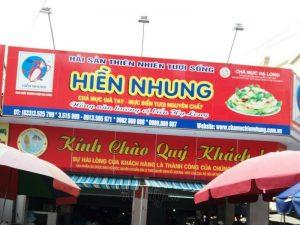 Làm biển quảng cáo hải sản tại Hạ Long