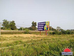 Thi công pano quảng cáo ngoài trời ở Quảng Ninh