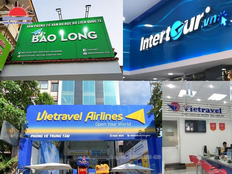 Làm biển quảng cáo công ty du lịch tại Quảng Ninh giá hợp lý