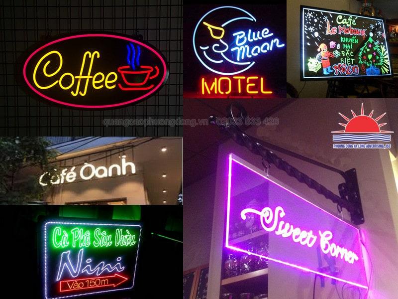 Mẫu biển quảng led cho quán cà phê