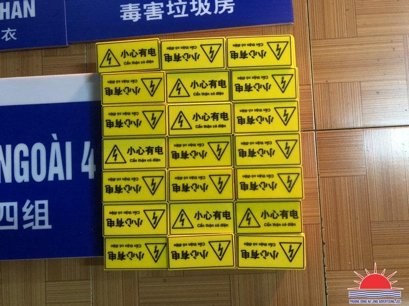 In UV biển báo nhà máy Hoa Lợi Đạt